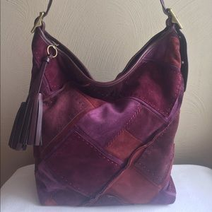 Suede Patchwork Bucket Bag